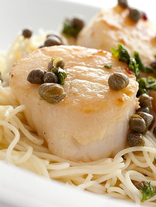 Buttery and full of capers, this scallop pasta puts a spin on the traditional chicken piccata.
