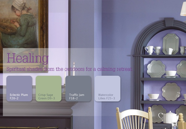 Healing: Spiritual shades from the outdoors for a calming retreat #inspiration #color