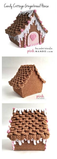 Free Tutorial - Amazing Candy Cottage Gingerbread House Free Crochet Pattern