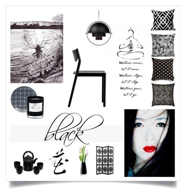 black by levai-magdolna on Polyvore featuring interior, interiors, interior design, home, home decor, interior decorating, Resident, Tokyo Design Studio, Blu Dot and La Perla
