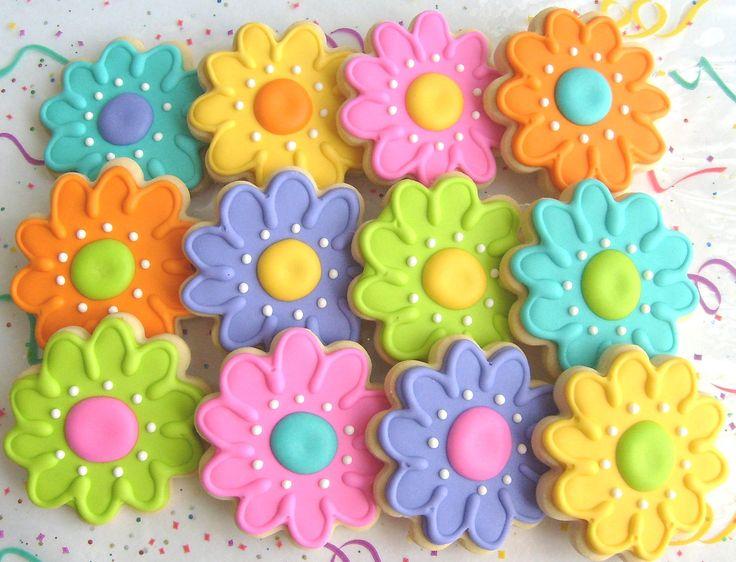 Super 25 Best Ideas About Flower Cookies On Pinterest Flower Sugar Easy Diy Christmas Decorations Tissureus