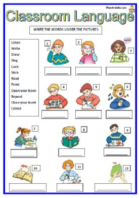 Class Room Language 5 9