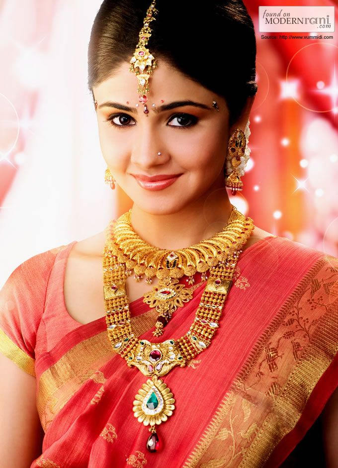 South Indian Bride Gold Jewelry #Bridaljewellery #SouthIndian