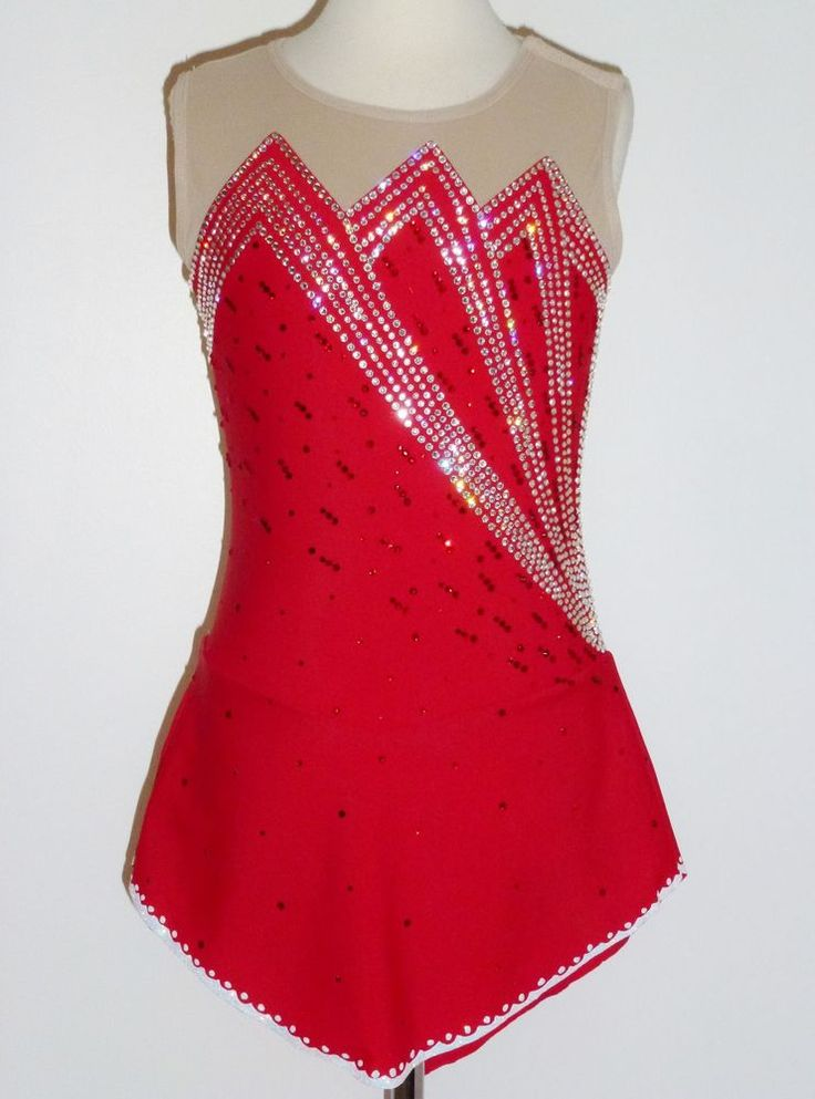 CUSTOM MADE TO FIT Stunning Figure Skating Dress with SWAROVSKI CRYSTALS #EliteSkateWear