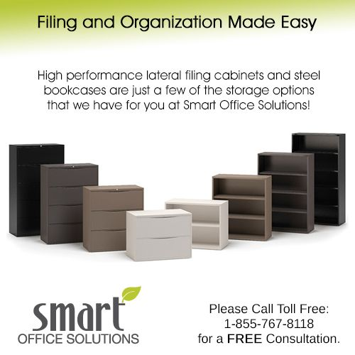 We offer a wide variety of storage options to keep your office organized and efficiently operating at all times. Our products include Bookcases, Shelves, Lateral Files and Cabinets from leading brands like Steelcase, Knoll, Teknion and more! Call us Toll Free: 1-855-767-8118 www.sosfurniture.ca