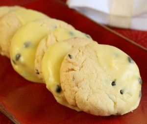 passionfruit cookies!   What to do with all those passionfruit when you just don't feel like a pavlova!