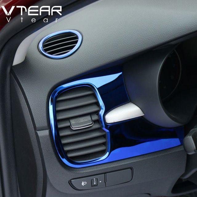 Vtear For Kia Rio 4 Air Outlet Circle Cover Interior Mouldings Car