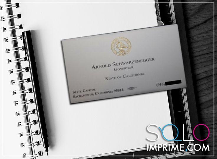 Tarjeta de Presentación, Originales, famosos, Business Card, Arnold