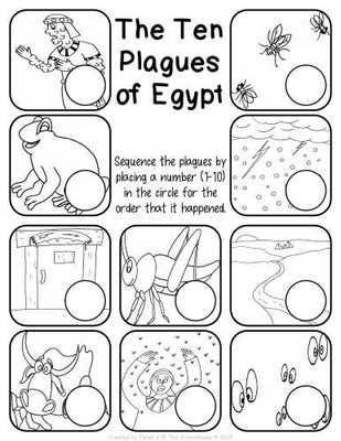 The Ten Plagues of Egypt Worksheet