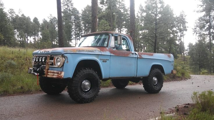 1968 DODGE POWER WAGON W100 SHORT BED PICK-UP 4X4 WITH 56,913 ORIGINAL MILES, ORIGINAL PAINT WITH GREAT PATINA. IT HAS THE ORIGINAL 318 V8 ENGINE WITH A 4 SPEED MANUAL TRANSMISSION (GRANNY GEAR) AND THE TWIN STICK CASE. THE ENGINE HAS A NEW COMP CAM MAGNUM HYDRAULIC CAMSHAFT AND LIFTERS (230,480), NEW EDELBROCK AIR GAP...