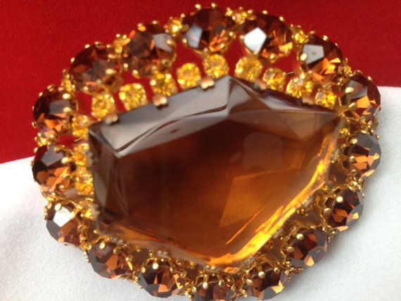 Large 1950s Smoky Topaz and Citrine/Amber Autumn by JewelsPast https://www.etsy.com/uk/listing/208380713/large-1950s-smoky-topaz-and-citrineamber?ref=shop_home_active_2