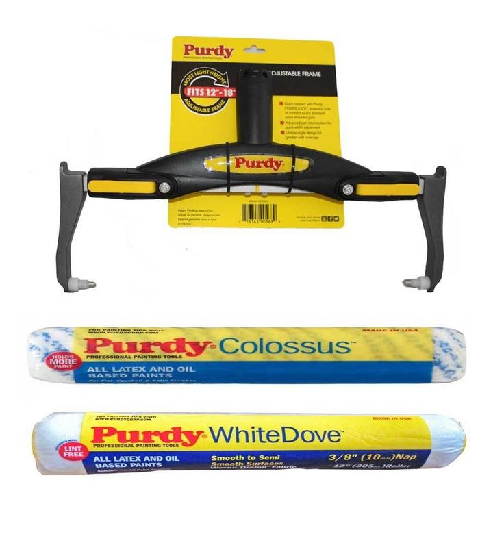 PURDY ADJUSTABLE ROLLER FRAME 12 -18  +12  COLOSSUS,12  DOVE SLEEVE