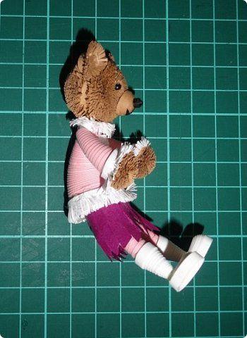 Картина панно рисунок Новый год Квиллинг 3D-квиллинг Мишки с санками Бумага Бумажные полосы Вата фото 5
