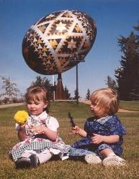 kids sitting at the Egg