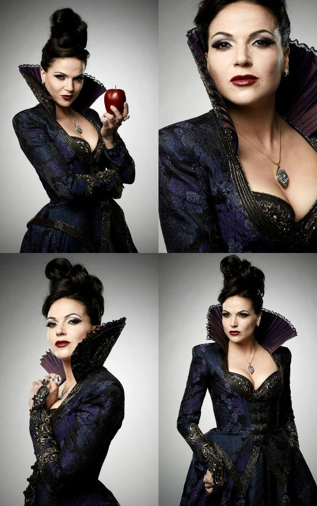 Snapshots with an Evil Queen. Her outfits and look are SO amazing!! I love Once Upon a Time!