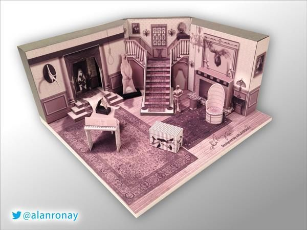 Amazingly Detailed Papercraft Addams Family House