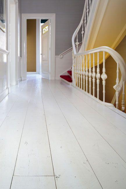 mooie witte houten vloer