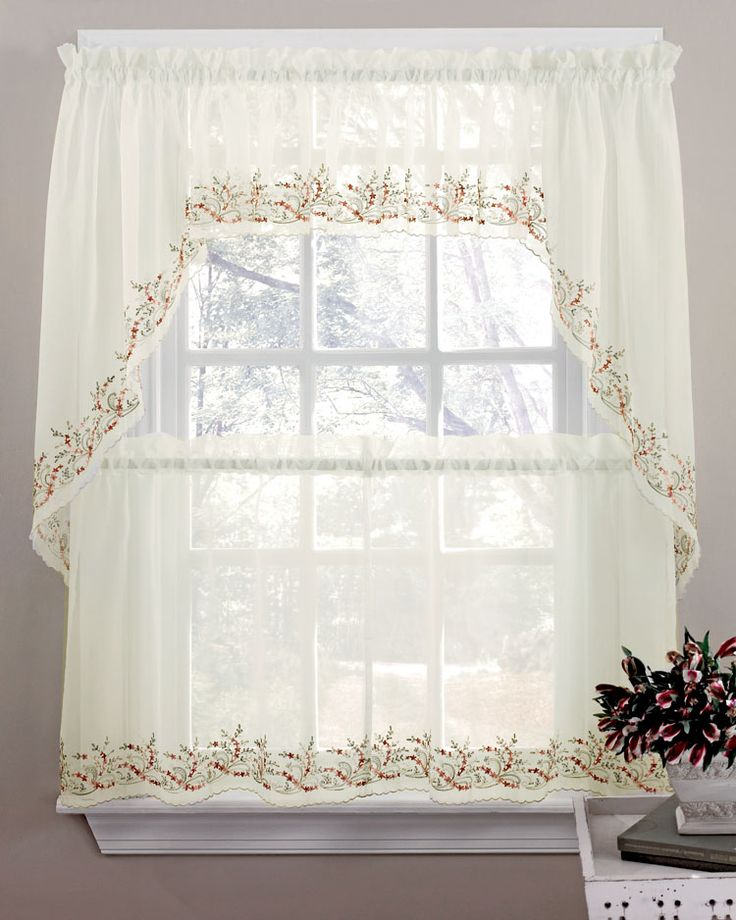 cottage curtain gingham bedbathhome kitchen floral collections dreams check tier green curtains with valances best country
