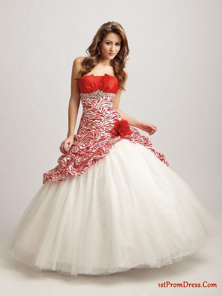 Cute red wedding dress ohio state theme ideas for Cute white wedding dresses