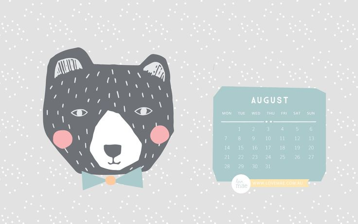 Click on the image below to download our free desktop calendar for August!        Enjoy!   Love.. Mae xx
