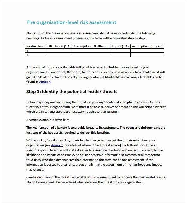 Building Security Risk Assessment Template Beautiful 10 Sample Security Risk Assessment Templates Pdf Assessment Checklist Security Assessment Report Template