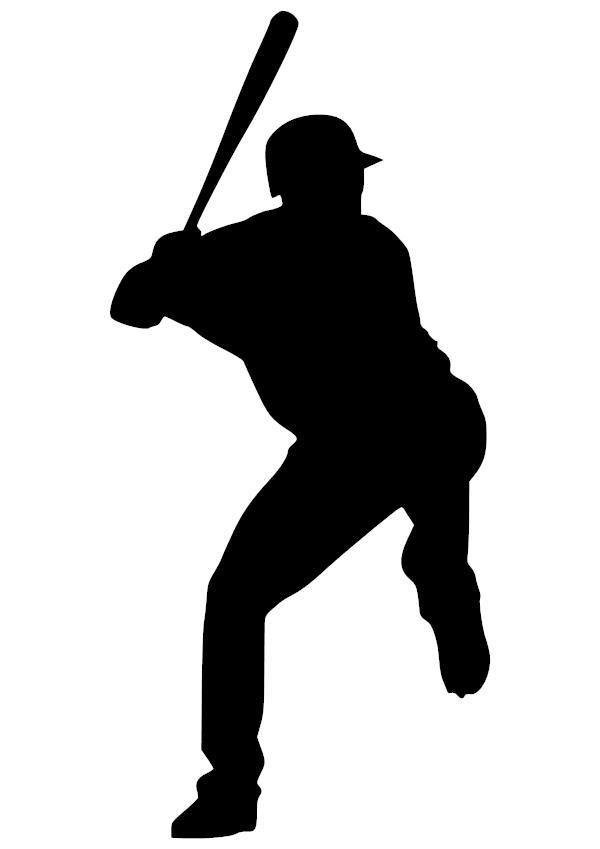 Baseball Batter Vinyl Decal With Images Baseball Batter