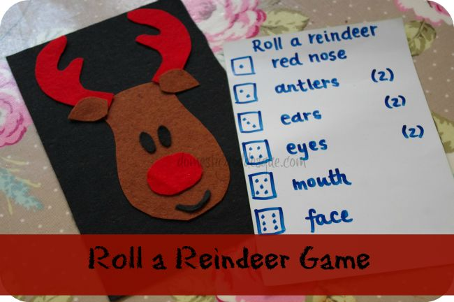 roll a reindeer game