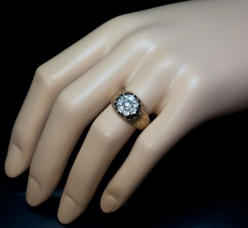 antique and vintage rings for sale diamond cluster gold ring