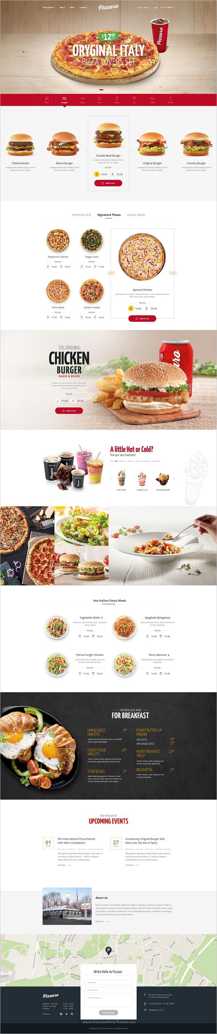 Pizzaro is modern and elegant design responsive 7in1 #WordPress theme for #burger #pasta fast #food and restaurant websites download now➩ https://themeforest.net/item/pizzaro-food-online-ordering-woocommerce-theme/19209143?ref=Datasata