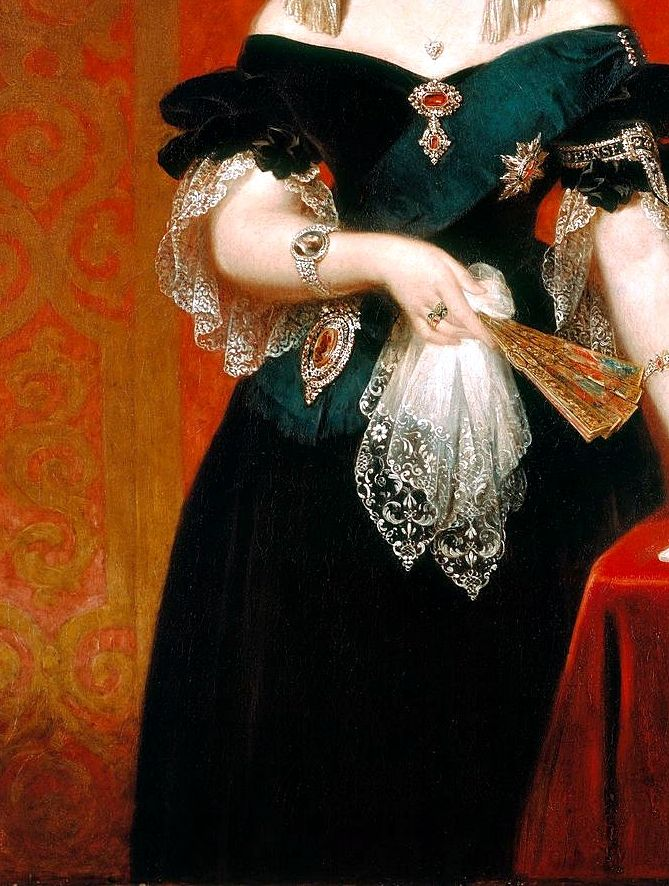 Art, detail .. X ღɱɧღ ||  Portrait of Queen Victoria (1819-1901), Detail. by John Partridge (1790-1872)