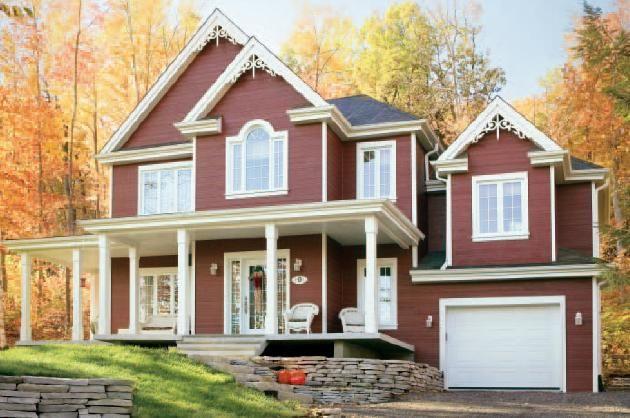 Fachadas de casas americanas bonitas pesquisa google - Planos de casas americanas ...