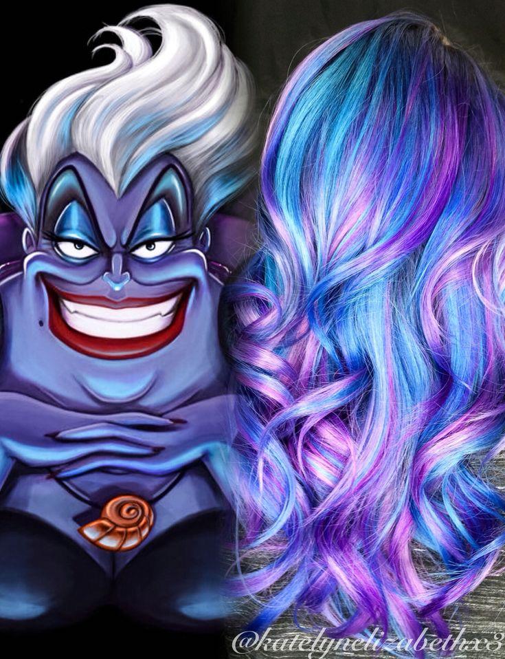 Ursula hair! Created with Joico Intensities by Katelyn Wolf #disneypoplocks