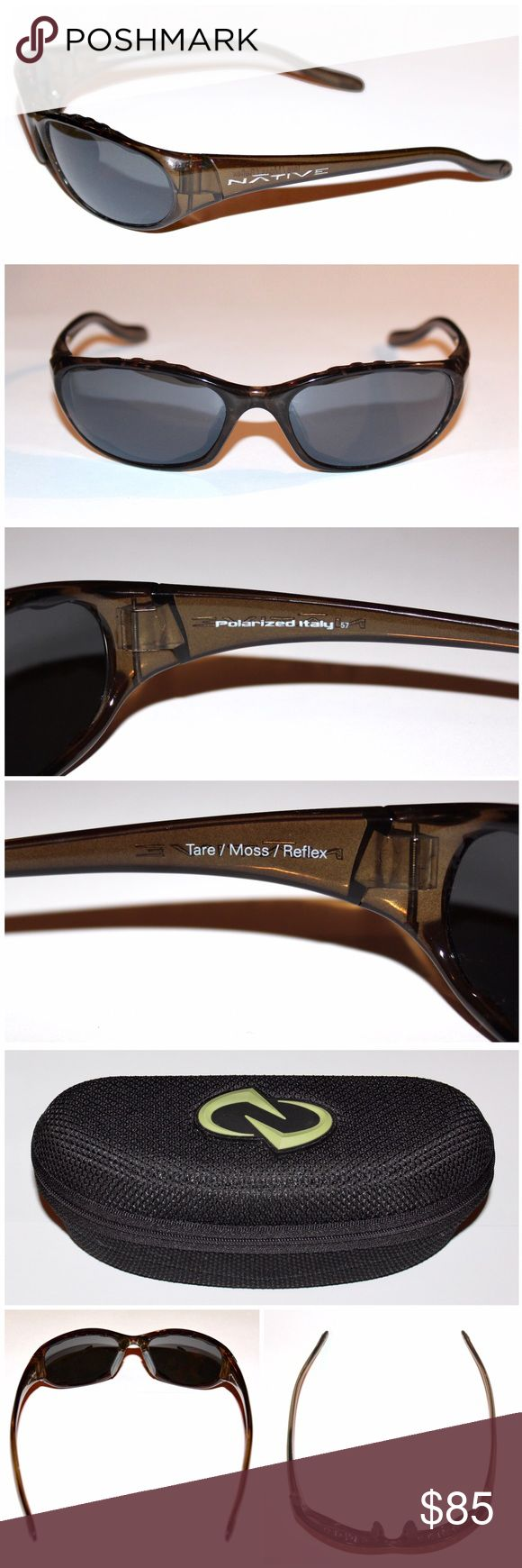 NATIVE Tare Polarized Moss/Silver Reflex Sunglases NATIVE  Tare Polarized Sunglasses    These Native 121-356-521 Tare Moss Silver Reflex Sunglasses may not be rose-colored, but they'll still improve your view of the world around you - or, at least, help you get a much better look at the world around you.  - Frame: plastic  - Hinge: Cam-Action  - Lens: Crystal Carbonate  - Interchangeable Lens: yes, Sportsflex  - Lenses Included: 1 extra  - Polarized: yes  - Face Size: medium  - Case Type…