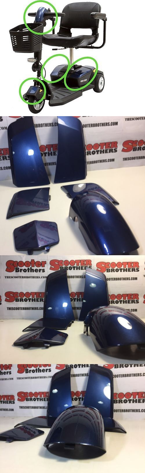Mobility Scooter Parts: Pride Go-Go Mobility Scooter Blue Body Shroud Kit For Elite Traveler W Cts -> BUY IT NOW ONLY: $48.4 on eBay!