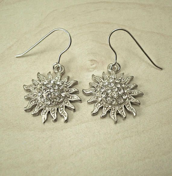Silver drop earringssilver dangle earringssilver modern