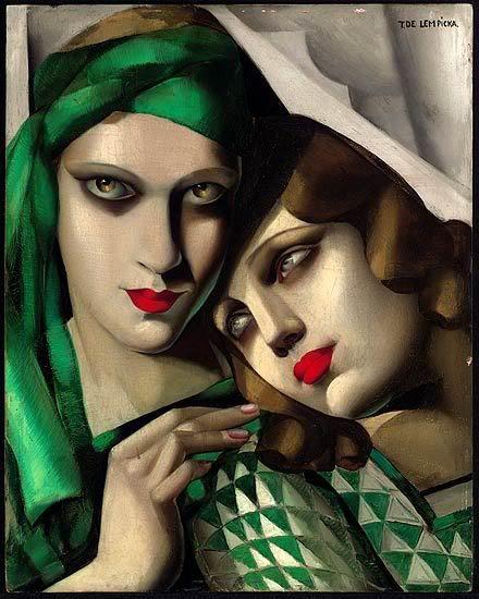 """el turbante verde "" Tamara Lempicka Love this makeup technique"