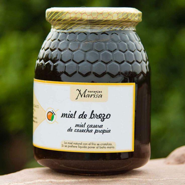 Productos elaborados – Naranjas Marisa. Miel de brezo. Miel de cosecha propia. Tarro de 1kg.