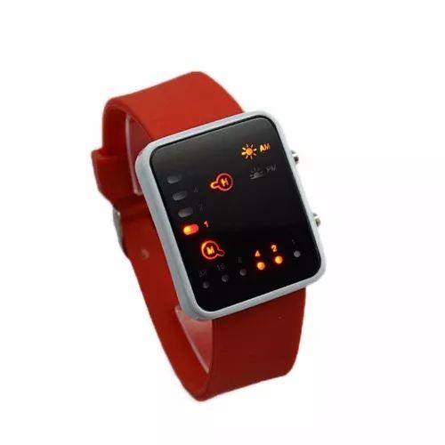 #reloj binario #geek, moderno extensible color rojo unisex #mercadolibre
