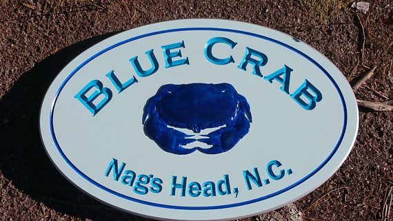 Beach House Crab House Cottage Signs Painted Custom Engraved on PVC
