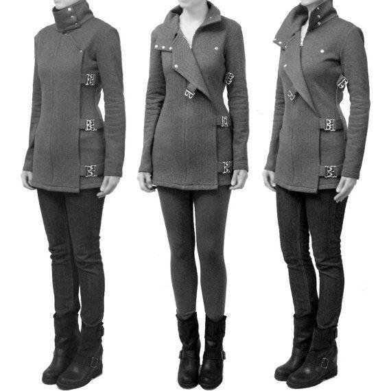 Clasp and Appliqué Fleece Sweater Jacket by ErinAlexandraKlym