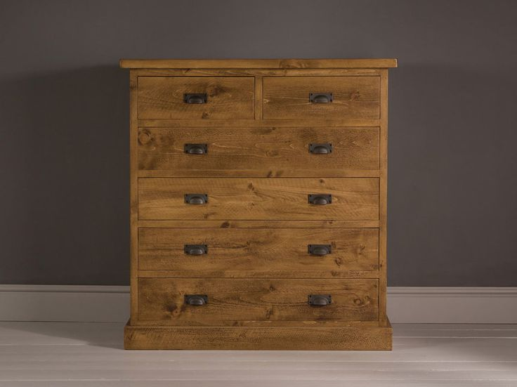 Plank Wideboy, Wood Chest of Drawers, 6 Drawer Chest, Living Room Furniture - Indigo Furniture