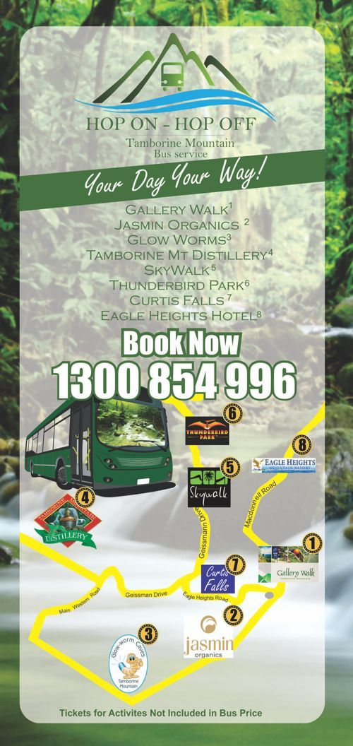Tamborine Mountain is the hidden gem of the Gold Coast and  with so many attractions and activities why not do it your way… If you want to see the top things to do on the mountain without the strict times or rules of a tour then, the Hop On Hop Off Bus Service is Perfect for you!! Book now http://ticketsandtours.com.au/travel/hop-on-hop-off-to-tamborine-mountain/