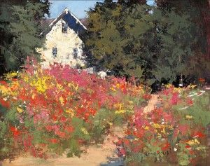 ❀ Blooming Brushwork ❀ - garden and still life flower paintings - Romona Youngquist, Summer Cottage
