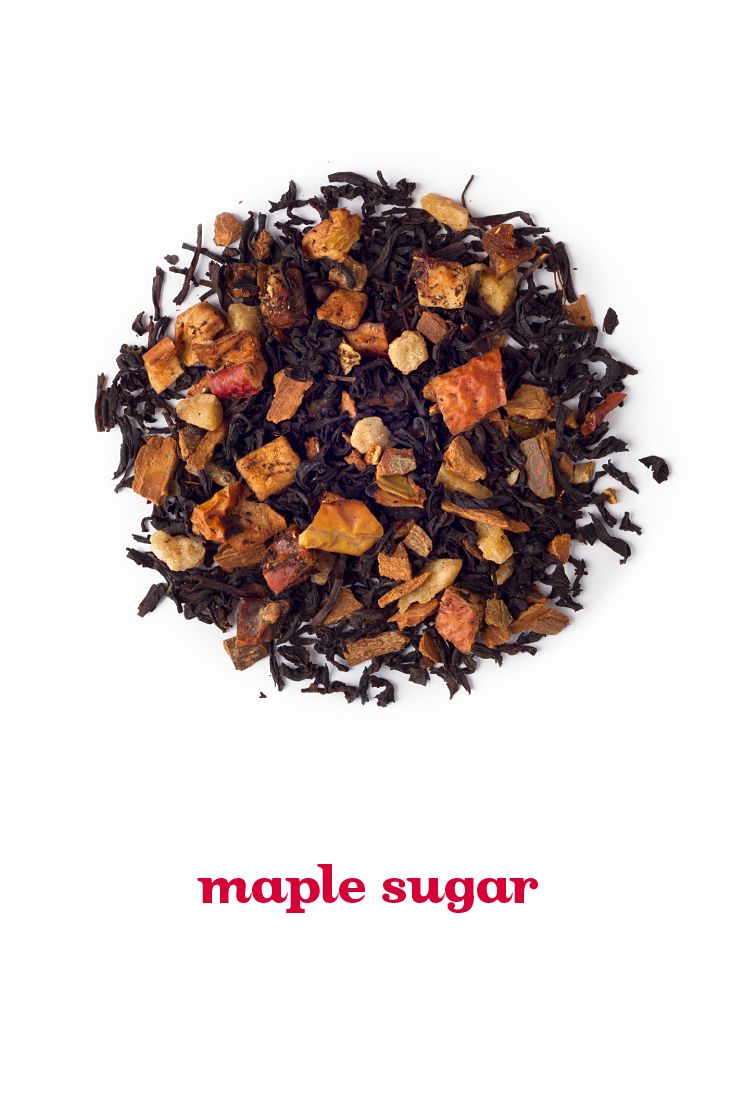 FALL 2014 - A toasty black tea with apple cinnamon and real pieces of maple candy.