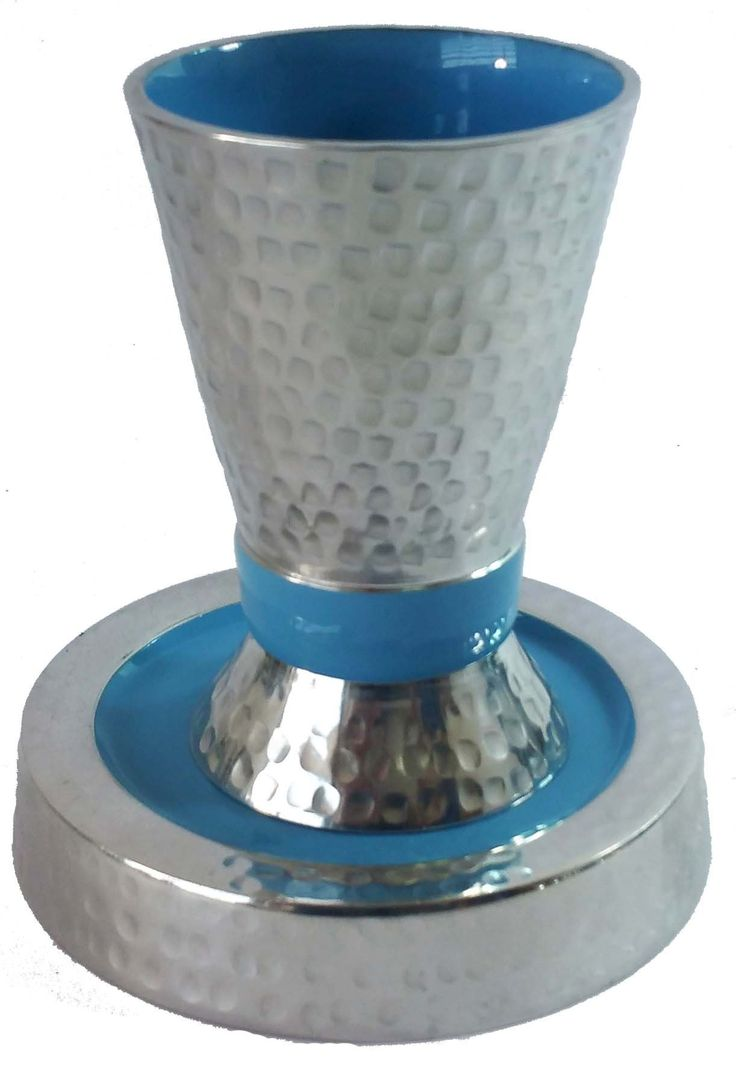 Kiddush Cup Hammered Aluminum Size 12*11 cm