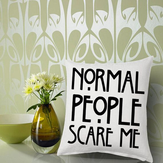 american horror story quote black Pillow Cover by FeliCityPillow, $15.00