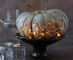 Herbstliche Kürbis-Tischdeko