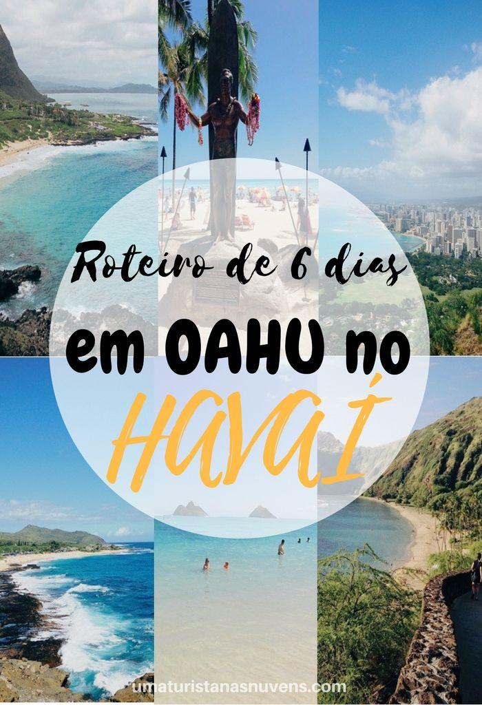 Roteiro prático de 6 dias na ilha de Oahu. Trata-se de uma das ilhas mais visitadas no estado do Havaí, nos Estados Unidos. Um destino recheado de prais paradisíacas.