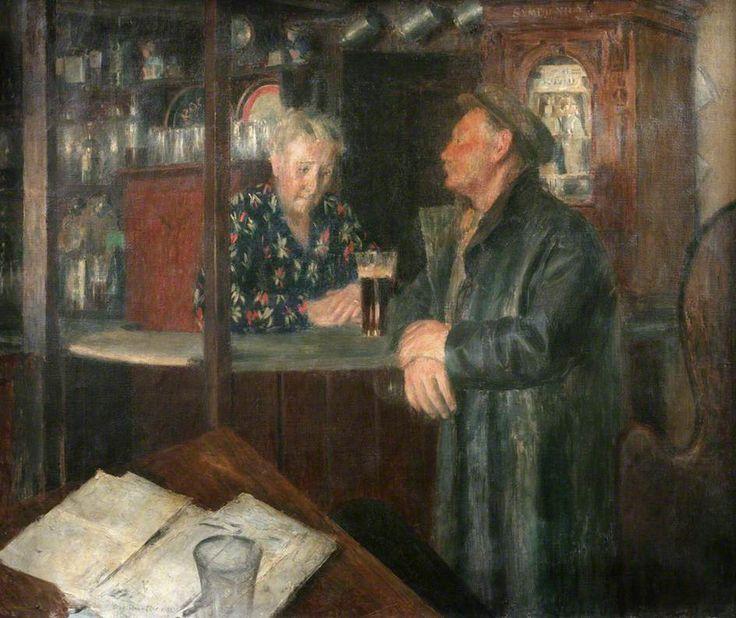 'TOLCARNE INN' (1935) | Dod Procter (English, 1890 - 1972). ✫ღ⊰n