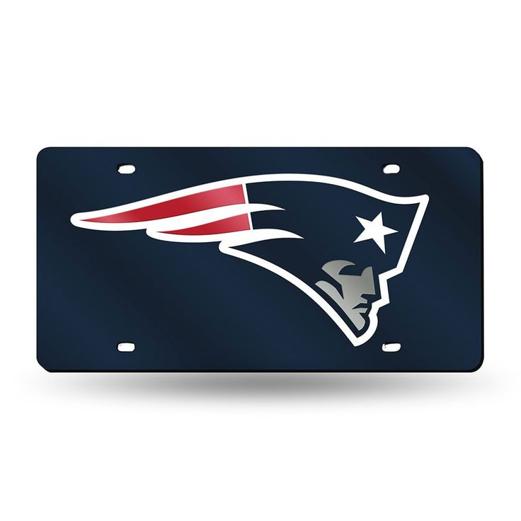 New England Patriots NFL Laser Cut License Plate Cover Colored